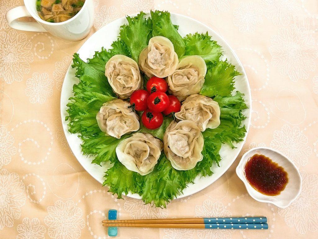 レシピ:キャベツと青菜たっぷり薔薇餃子