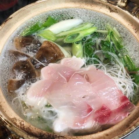 夏の冷やし1分鍋レシピ:鯛しゃぶ鍋