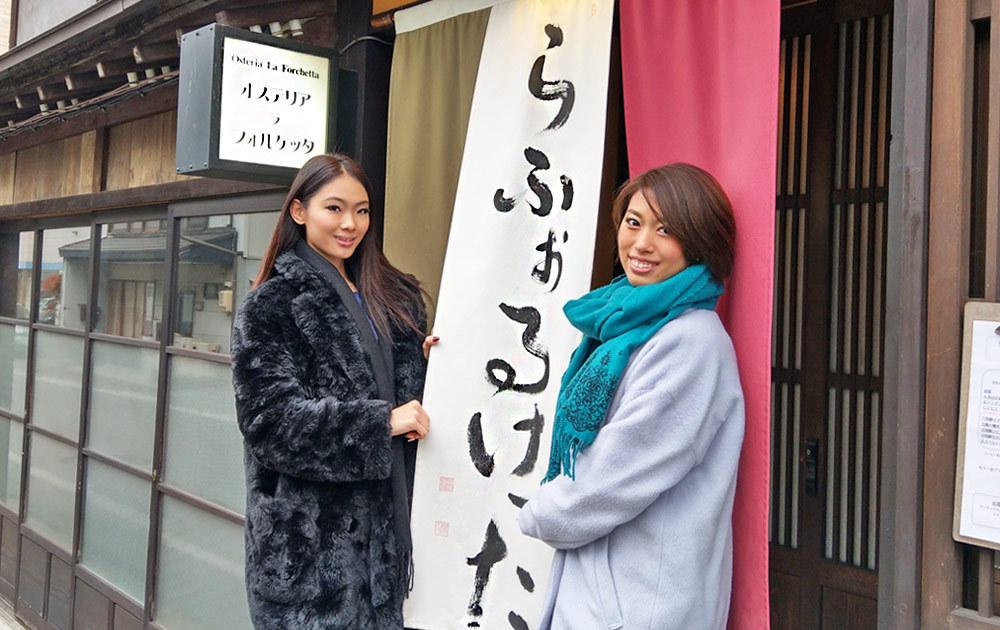 ミスグランドジャパン2017の勝本有莉実さんと森江由衣さんも一緒に!