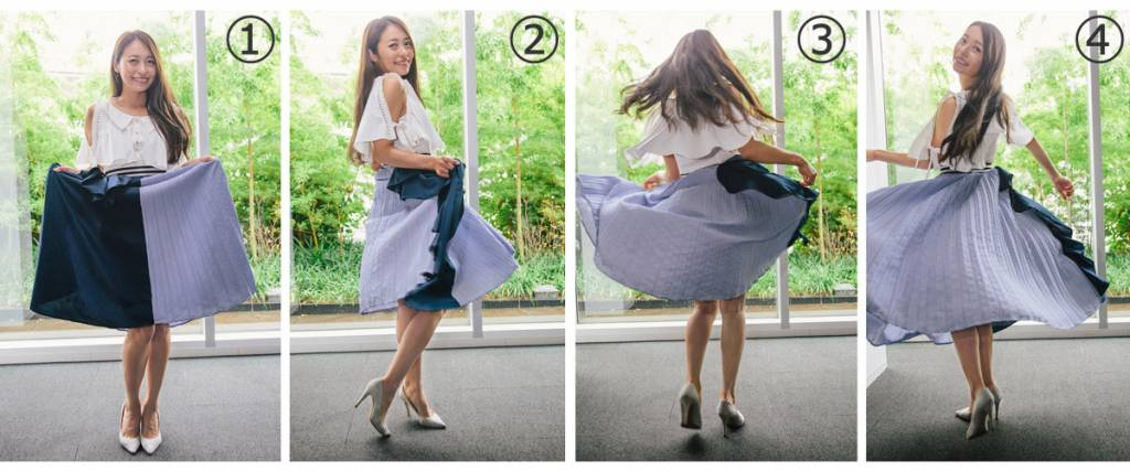SNS映え スカートふわり写真の撮り方