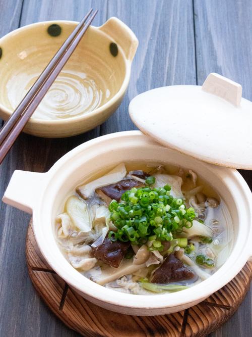 発酵鍋レシピ:きのこの塩麹鍋
