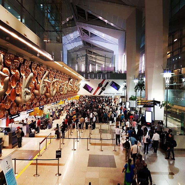 ニューデリーのインディラ・ガンディー国際空港