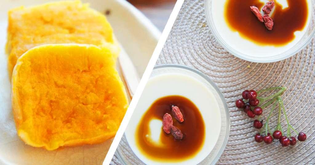 おやつルール&低カロリースイーツレシピ(カボチャのきんつば・プルプル豆花)