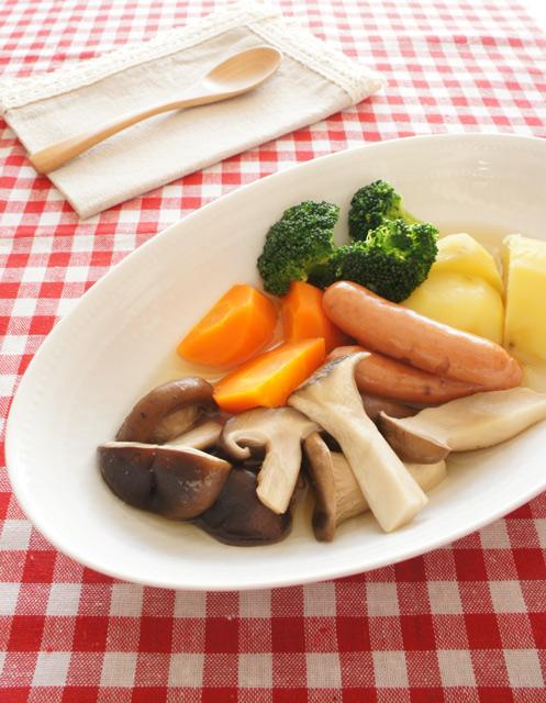 腸内きれいレシピ:キノコのポトフ