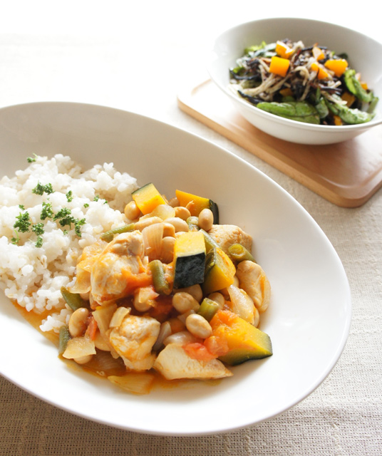 春むくみ撃退レシピ:鶏ササミと野菜のトマト煮【主菜】